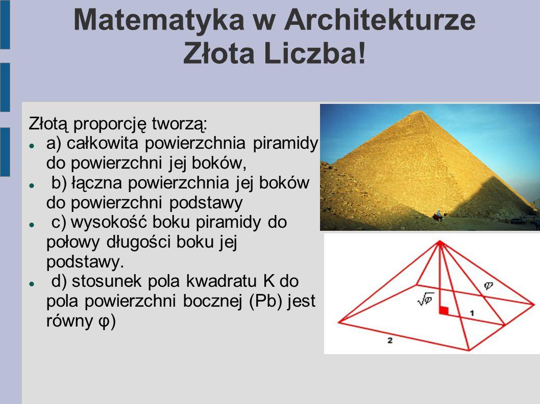 Matematyka w Architekturze Złota Liczba!