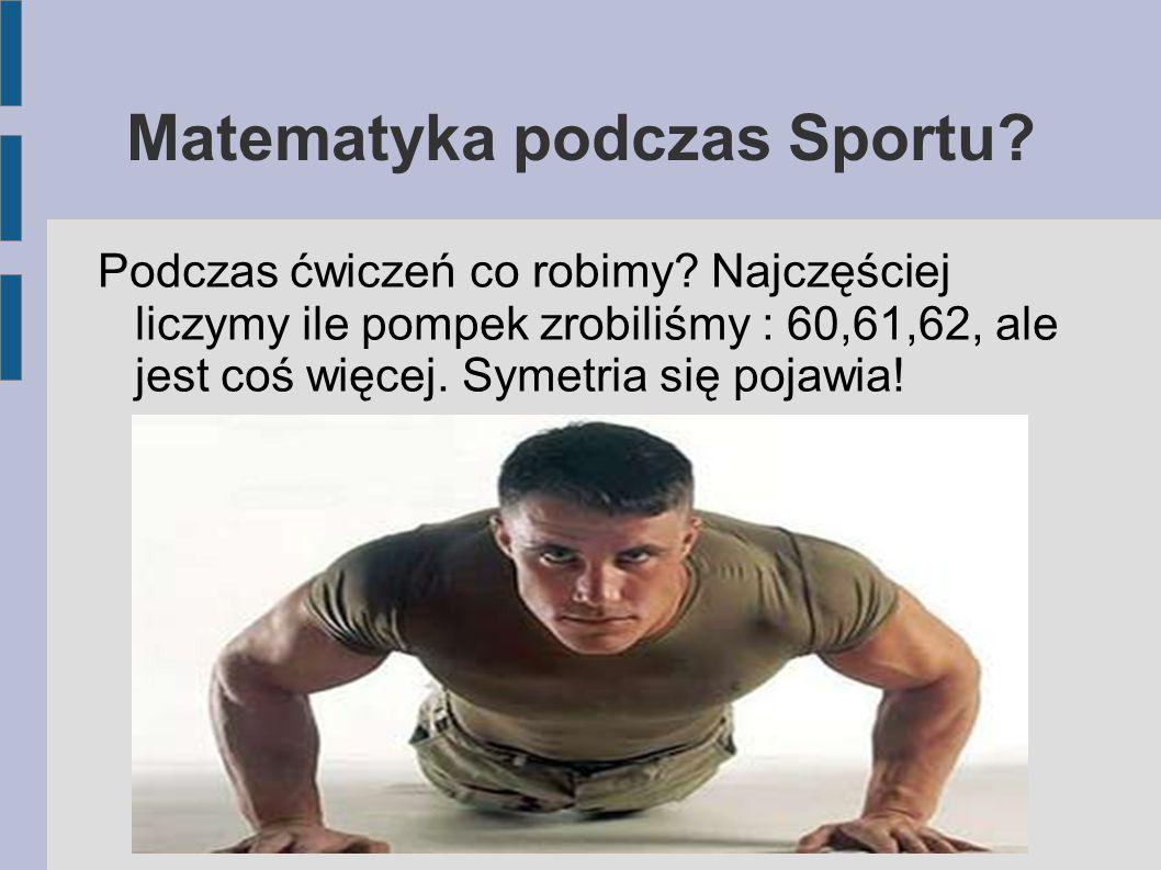 Matematyka podczas Sportu