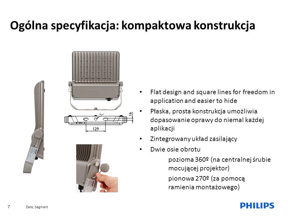 Ogólna specyfikacja: kompaktowa konstrukcja