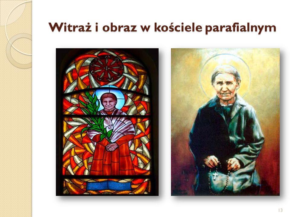 Witraż i obraz w kościele parafialnym