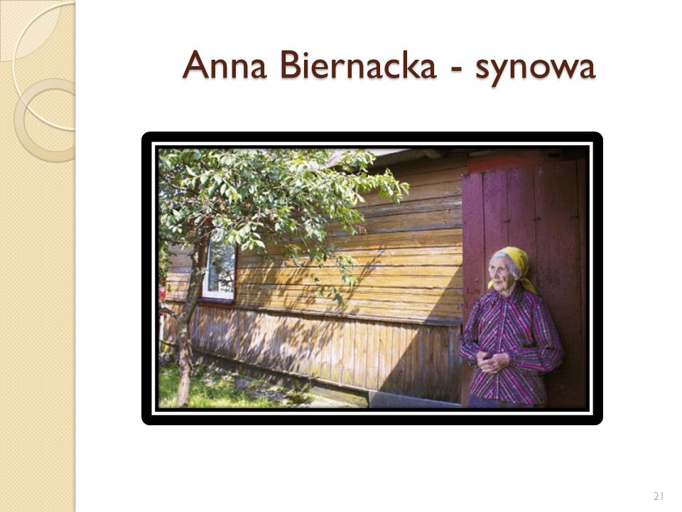 Anna Biernacka - synowa