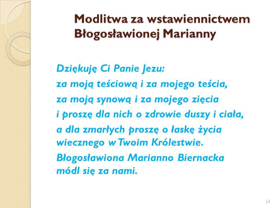 Modlitwa za wstawiennictwem Błogosławionej Marianny