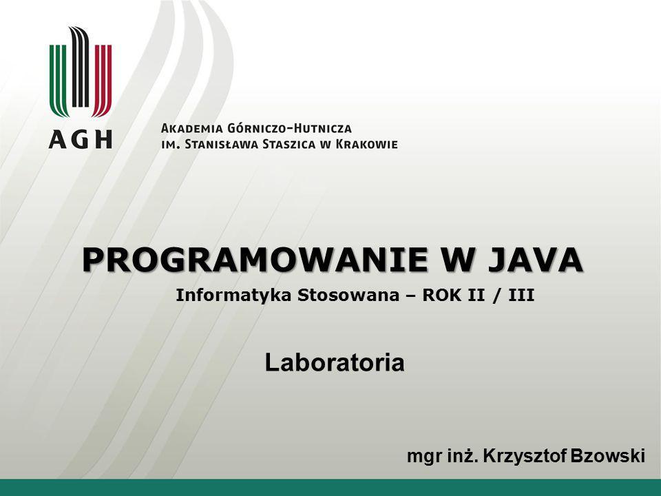 Informatyka Stosowana – ROK II / III