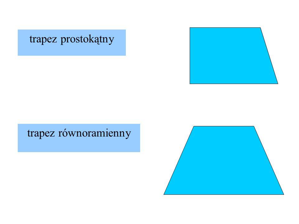 trapez prostokątny trapez równoramienny
