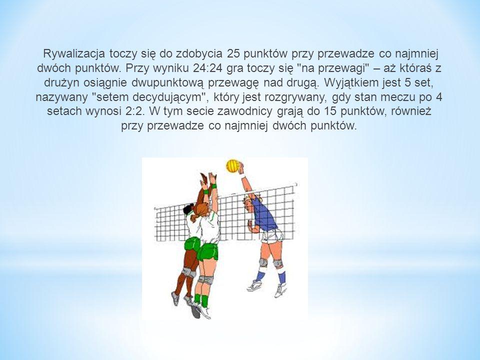 Rywalizacja toczy się do zdobycia 25 punktów przy przewadze co najmniej dwóch punktów.