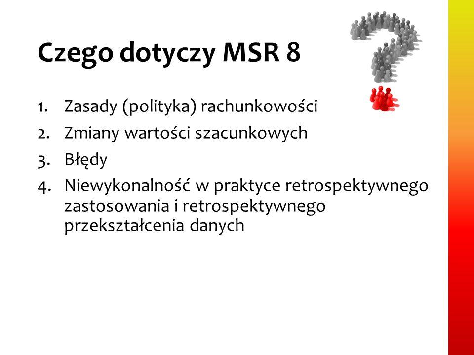Czego dotyczy MSR 8 Zasady (polityka) rachunkowości