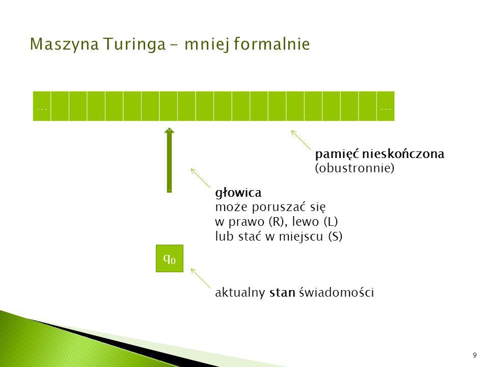 Maszyna Turinga - mniej formalnie