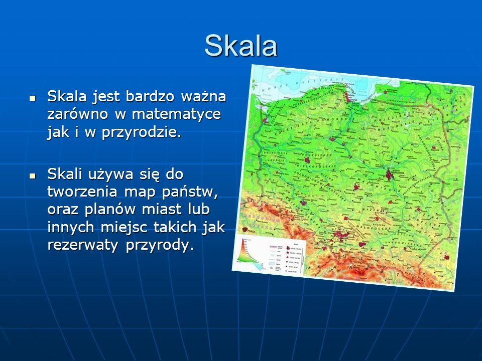 Skala Skala jest bardzo ważna zarówno w matematyce jak i w przyrodzie.