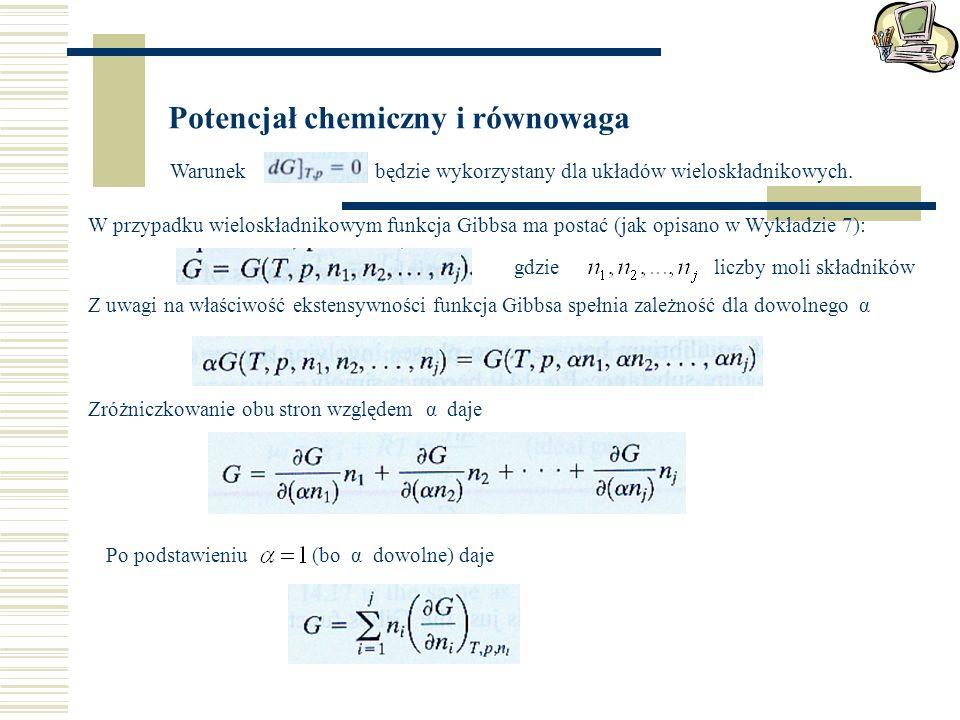 Potencjał chemiczny i równowaga