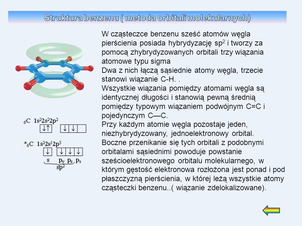 Struktura benzenu ( metoda orbitali molekularnych)