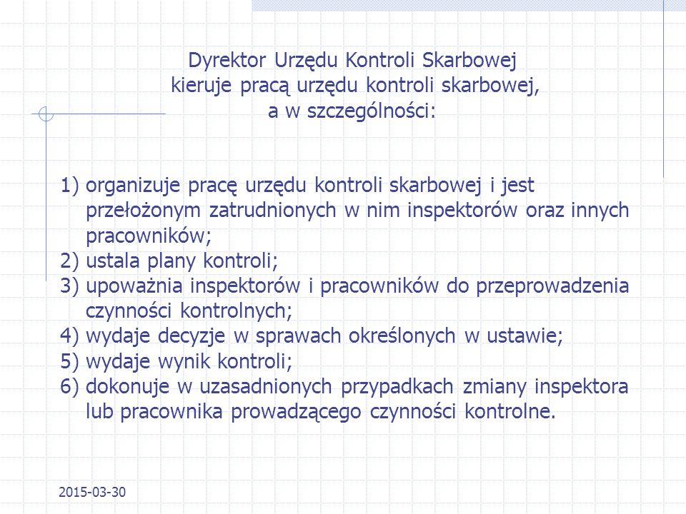 Dyrektor Urzędu Kontroli Skarbowej