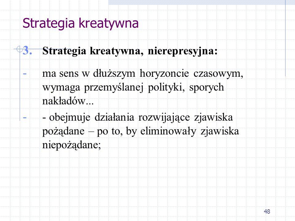 Strategia kreatywna Strategia kreatywna, nierepresyjna:
