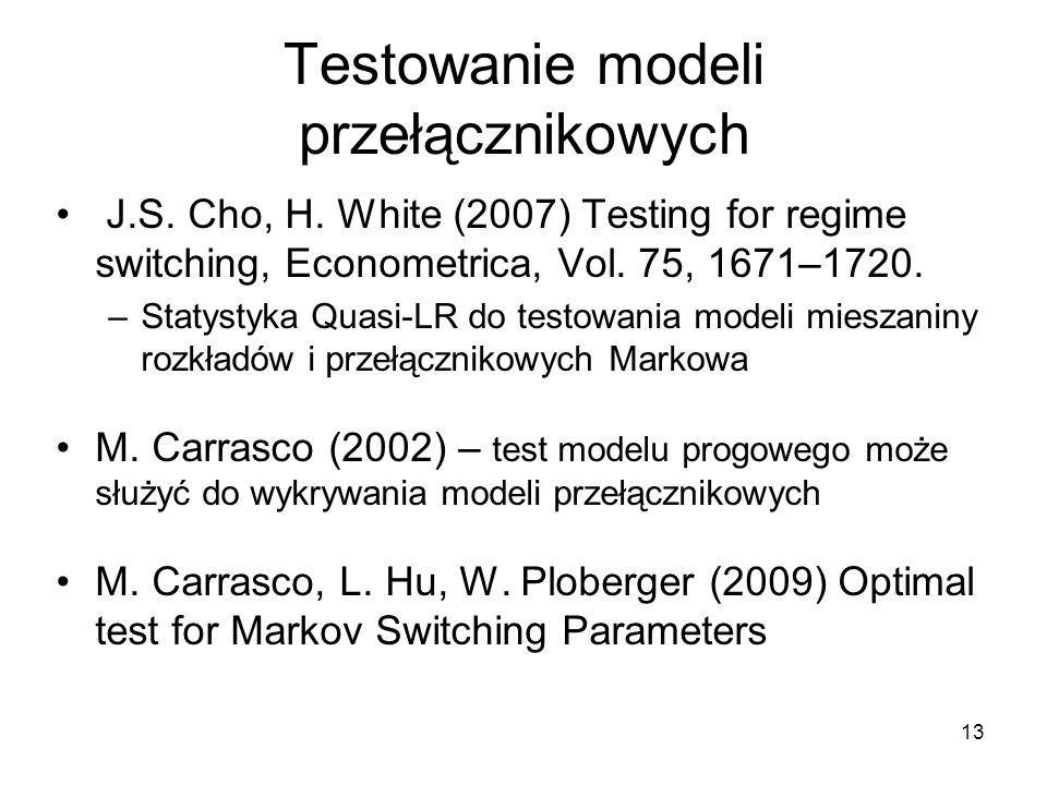 Testowanie modeli przełącznikowych