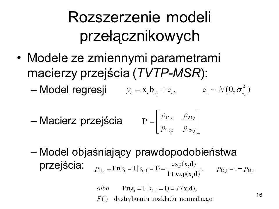 Rozszerzenie modeli przełącznikowych