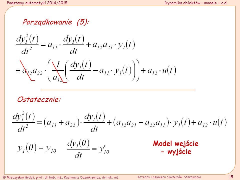 Model wejście - wyjście