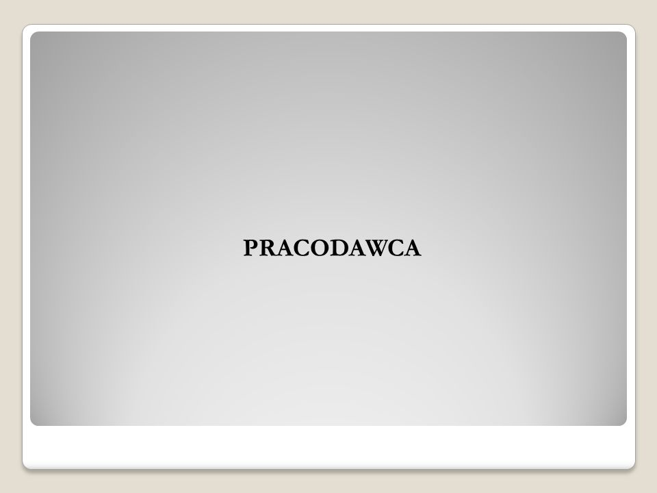 PRACODAWCA