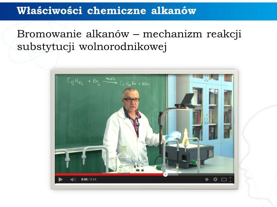 Właściwości chemiczne alkanów