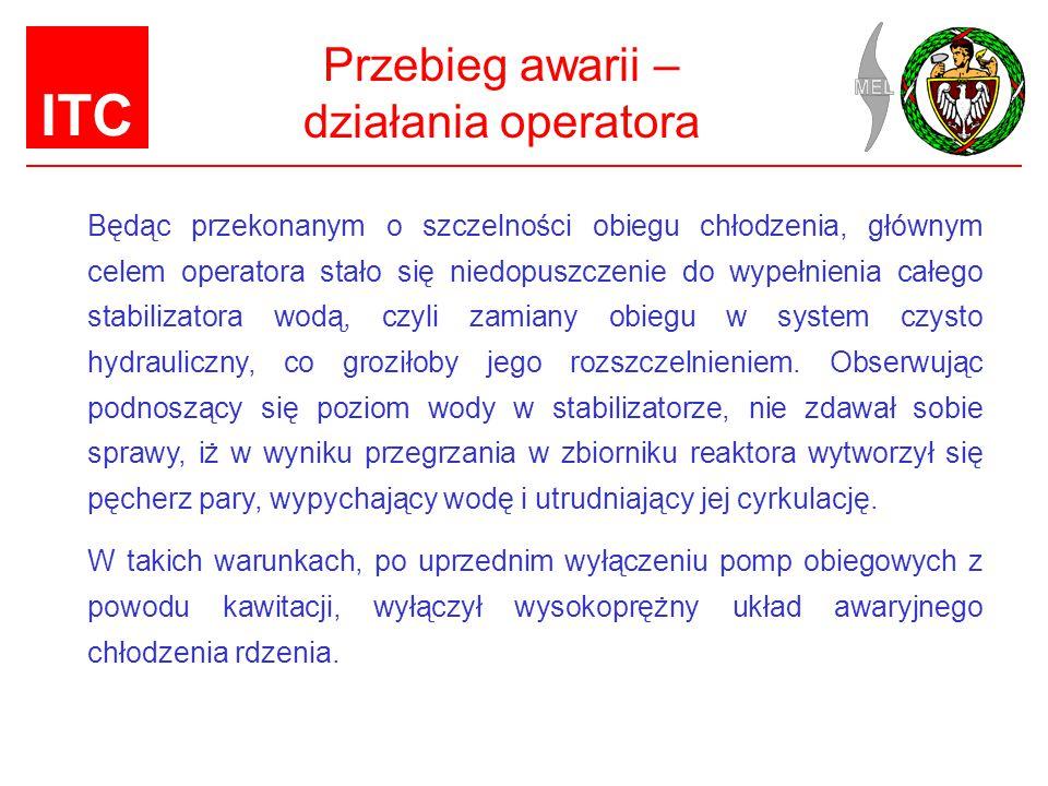 Przebieg awarii – działania operatora