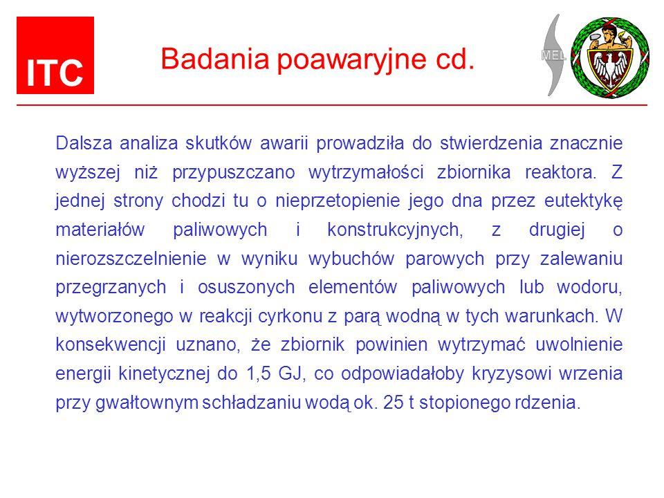 Badania poawaryjne cd.