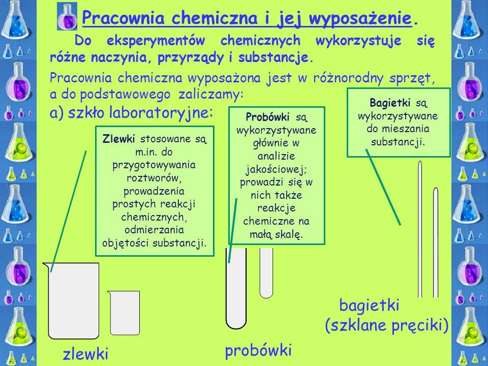 Bagietki są wykorzystywane do mieszania substancji.