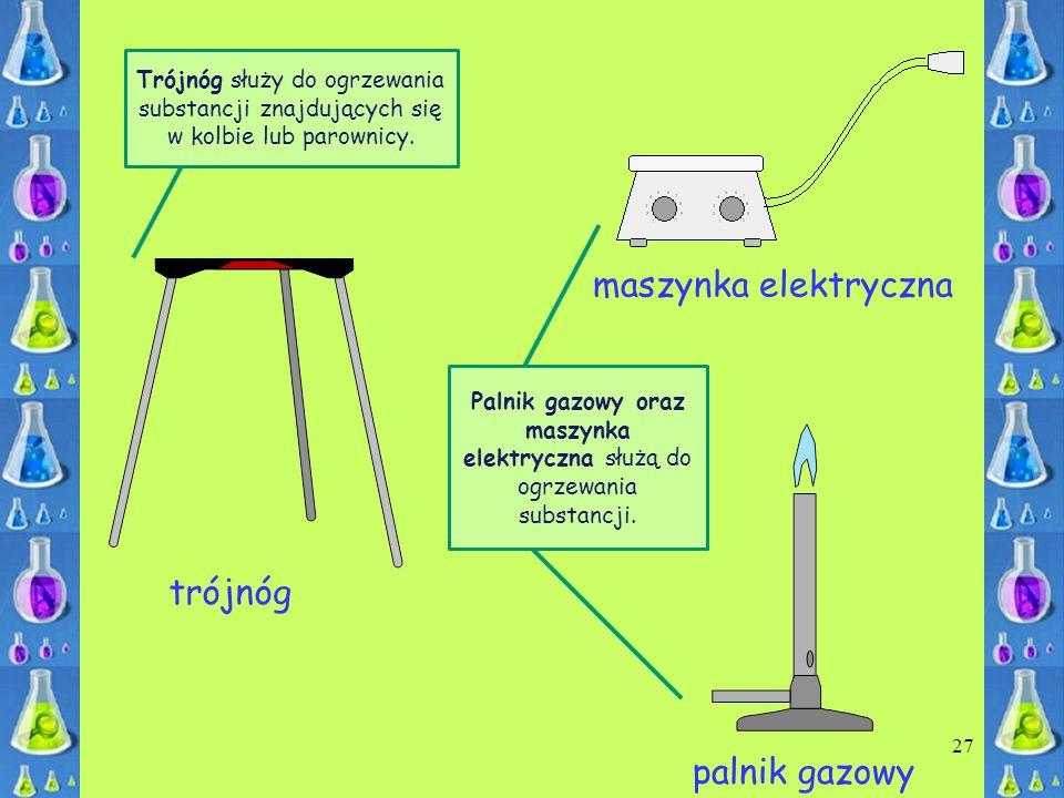 maszynka elektryczna trójnóg palnik gazowy
