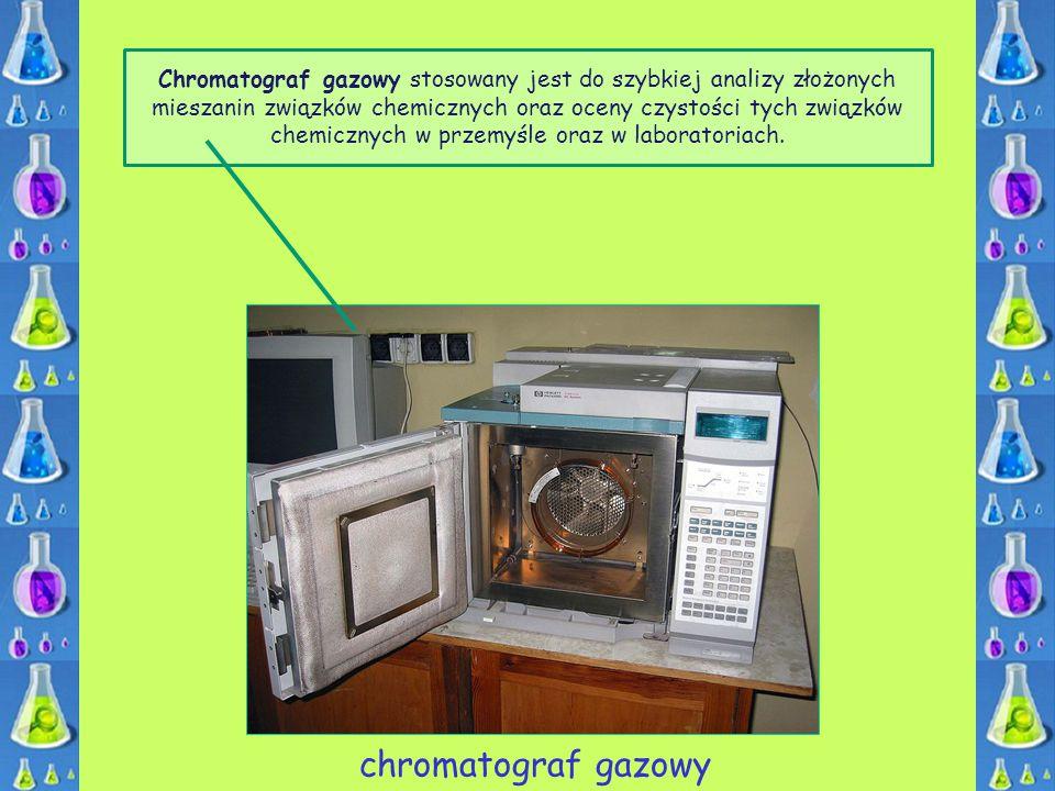 Chromatograf gazowy stosowany jest do szybkiej analizy złożonych mieszanin związków chemicznych oraz oceny czystości tych związków chemicznych w przemyśle oraz w laboratoriach.