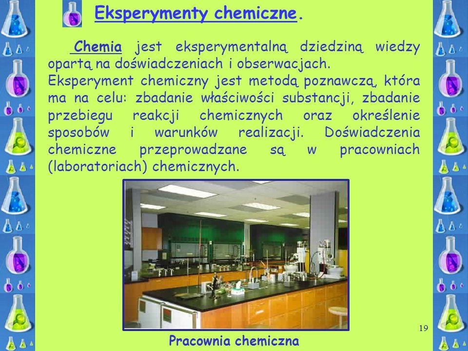 Eksperymenty chemiczne.