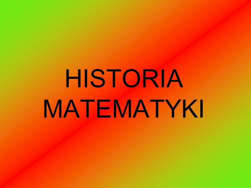 HISTORIA MATEMATYKI