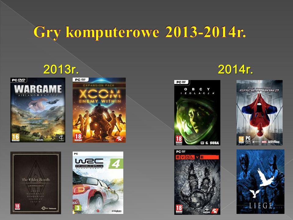 Gry komputerowe 2013-2014r. 2013r. 2014r.