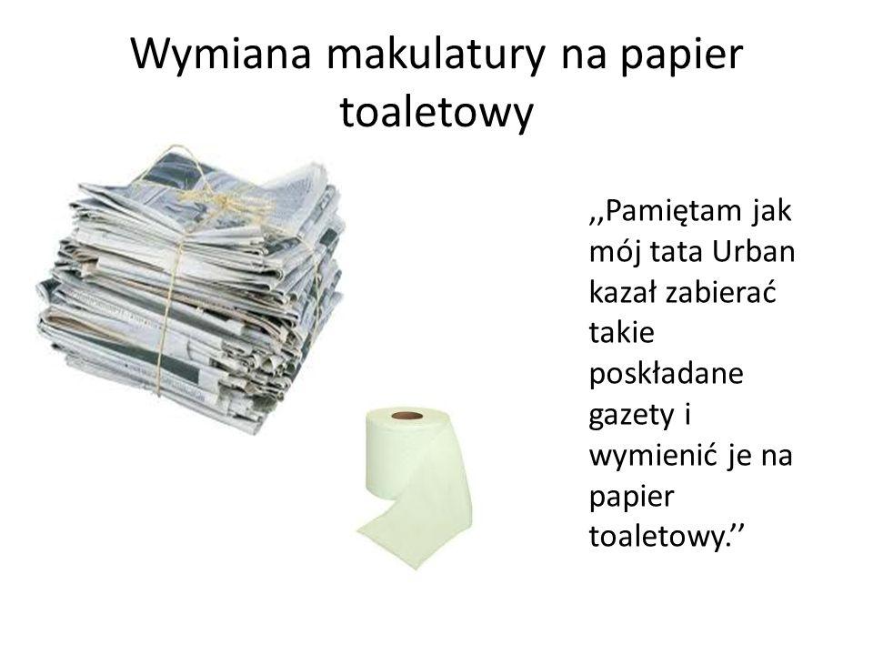 Wymiana makulatury na papier toaletowy