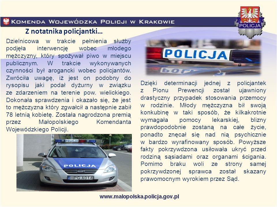 Z notatnika policjantki…