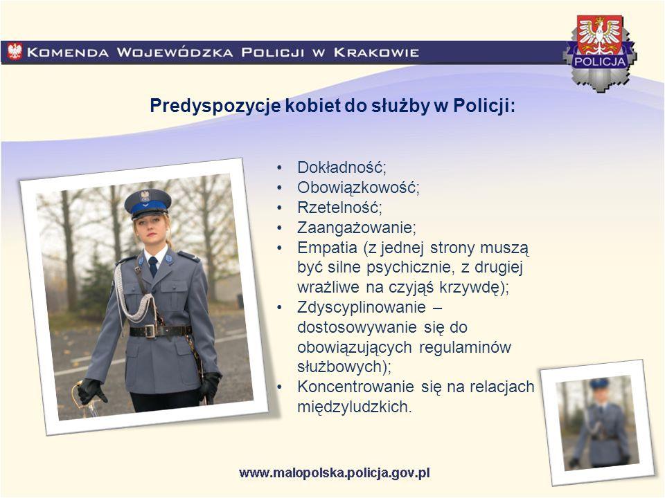 Predyspozycje kobiet do służby w Policji: