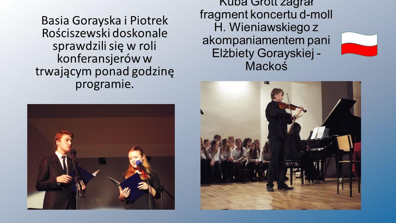 Kuba Grott zagrał fragment koncertu d-moll H