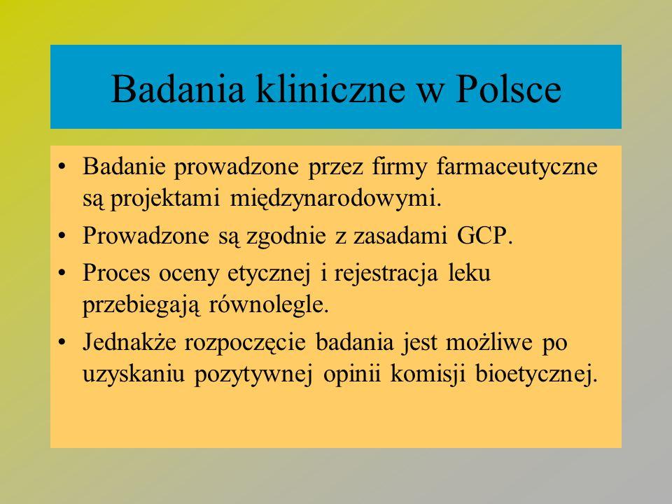 Badania kliniczne w Polsce