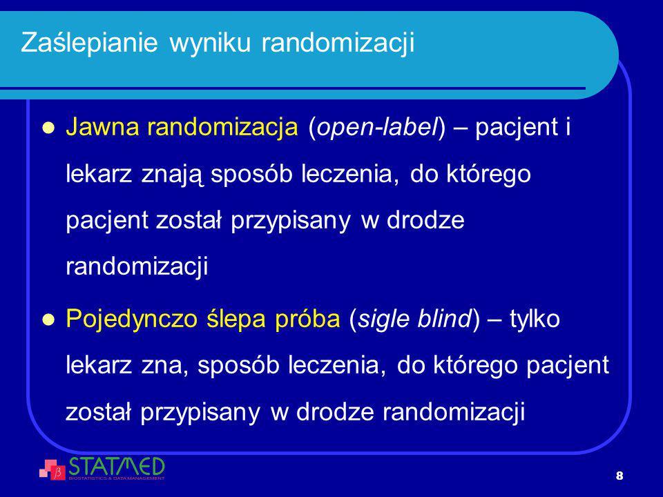 Zaślepianie wyniku randomizacji