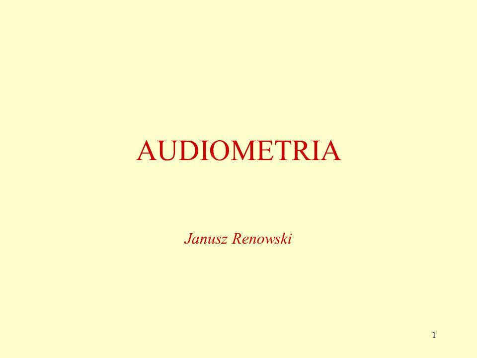 AUDIOMETRIA Janusz Renowski