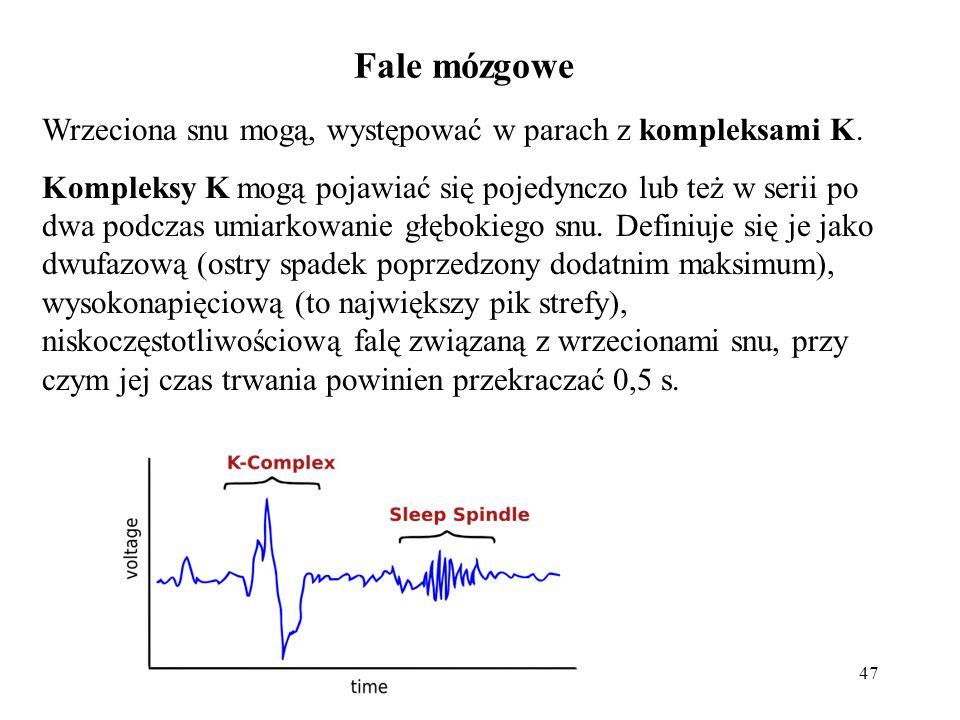 Fale mózgowe Wrzeciona snu mogą, występować w parach z kompleksami K.