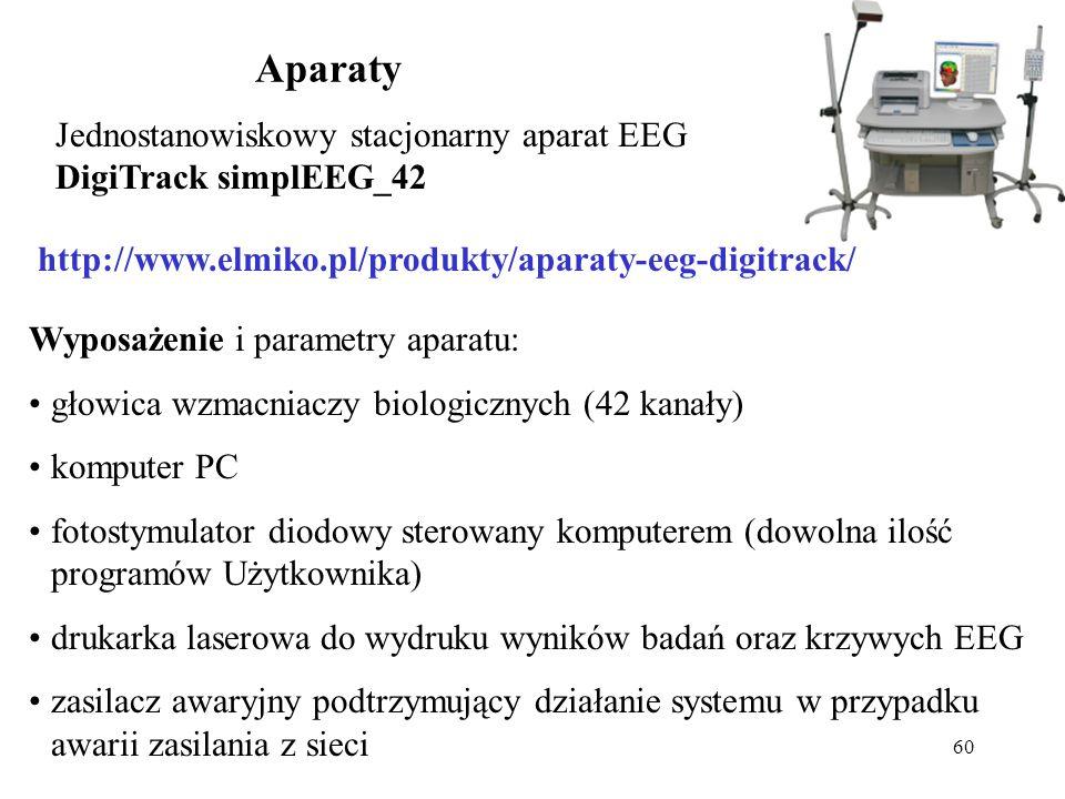 Aparaty Jednostanowiskowy stacjonarny aparat EEG DigiTrack simplEEG_42