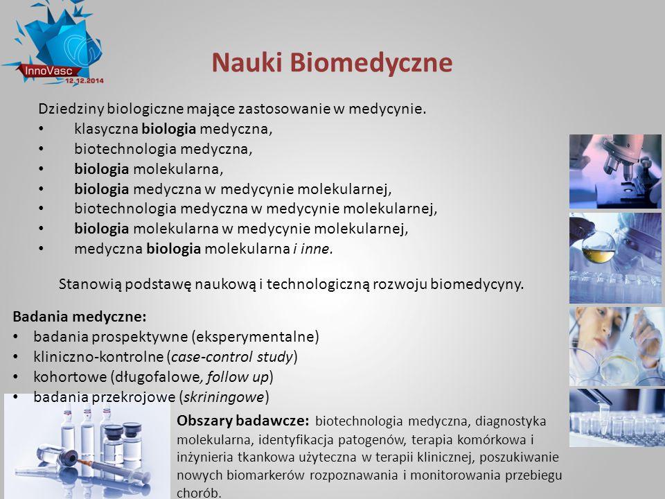 Stanowią podstawę naukową i technologiczną rozwoju biomedycyny.