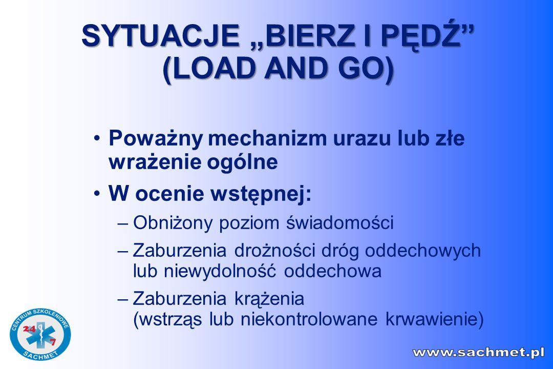 """SYTUACJE """"BIERZ I PĘDŹ (LOAD AND GO)"""