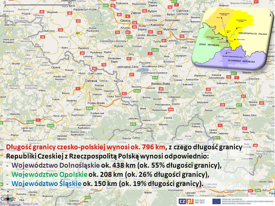Długość granicy czesko-polskiej wynosi ok
