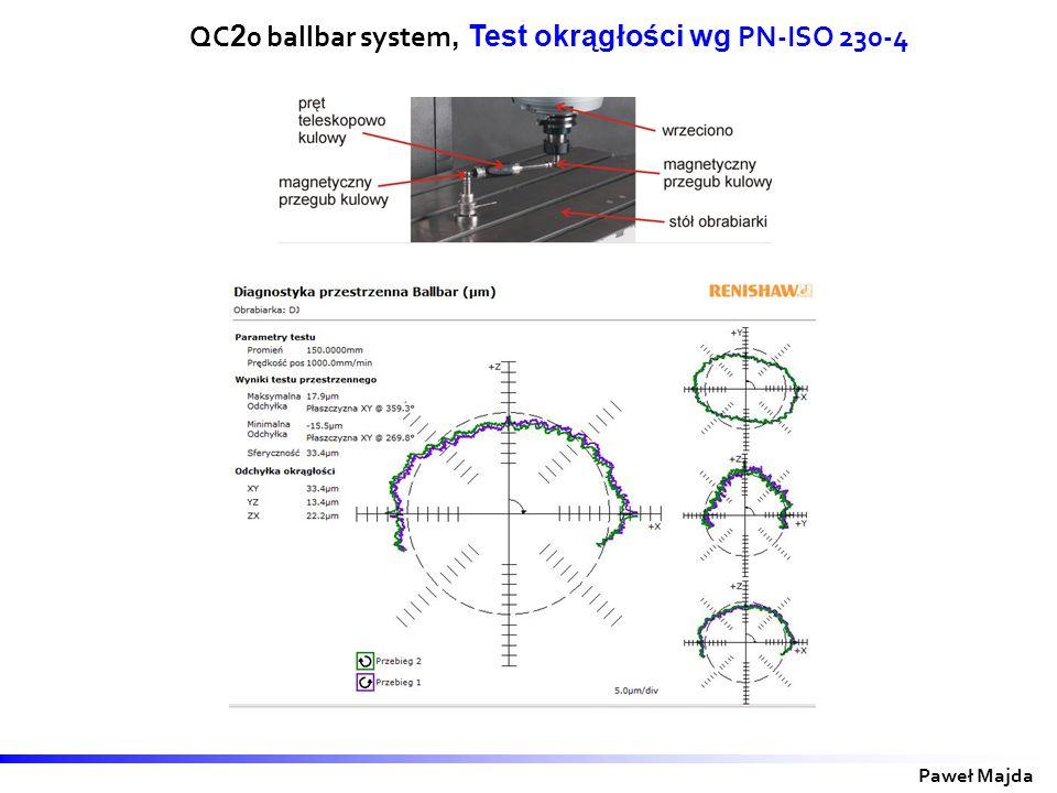 QC20 ballbar system, Test okrągłości wg PN-ISO 230-4