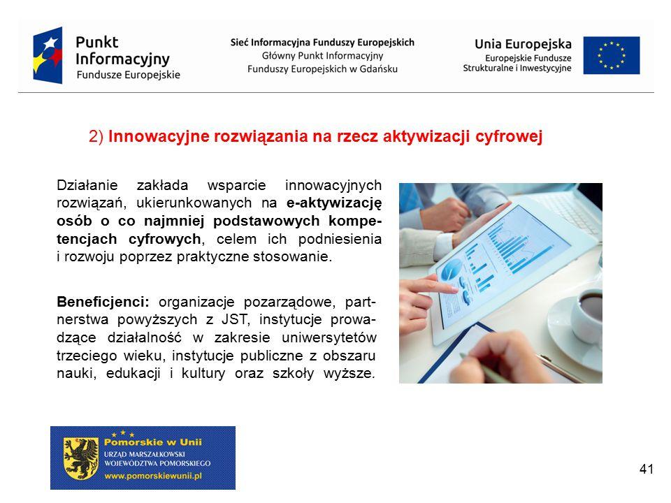 2) Innowacyjne rozwiązania na rzecz aktywizacji cyfrowej
