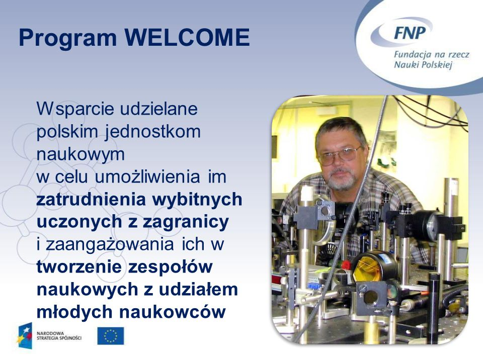 Program WELCOME