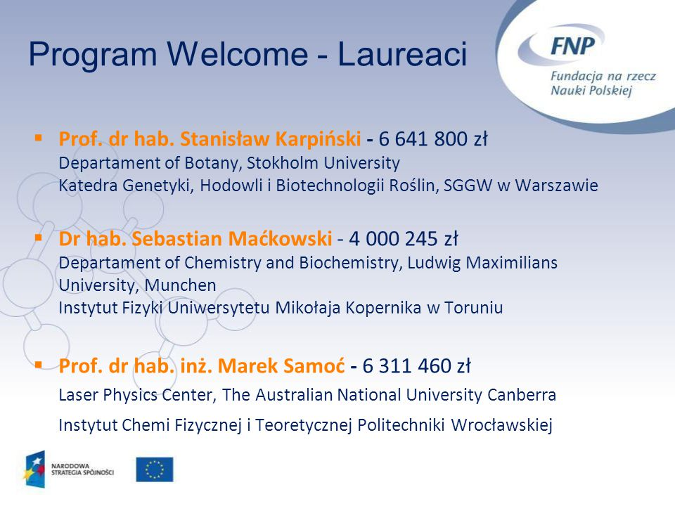 Program Welcome - Laureaci