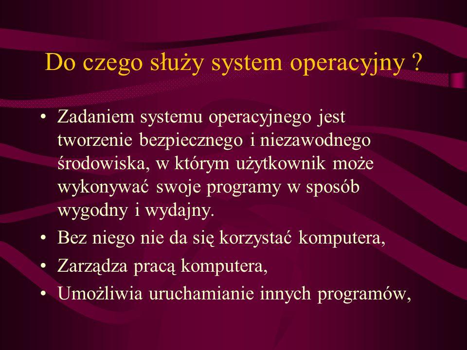 Do czego służy system operacyjny