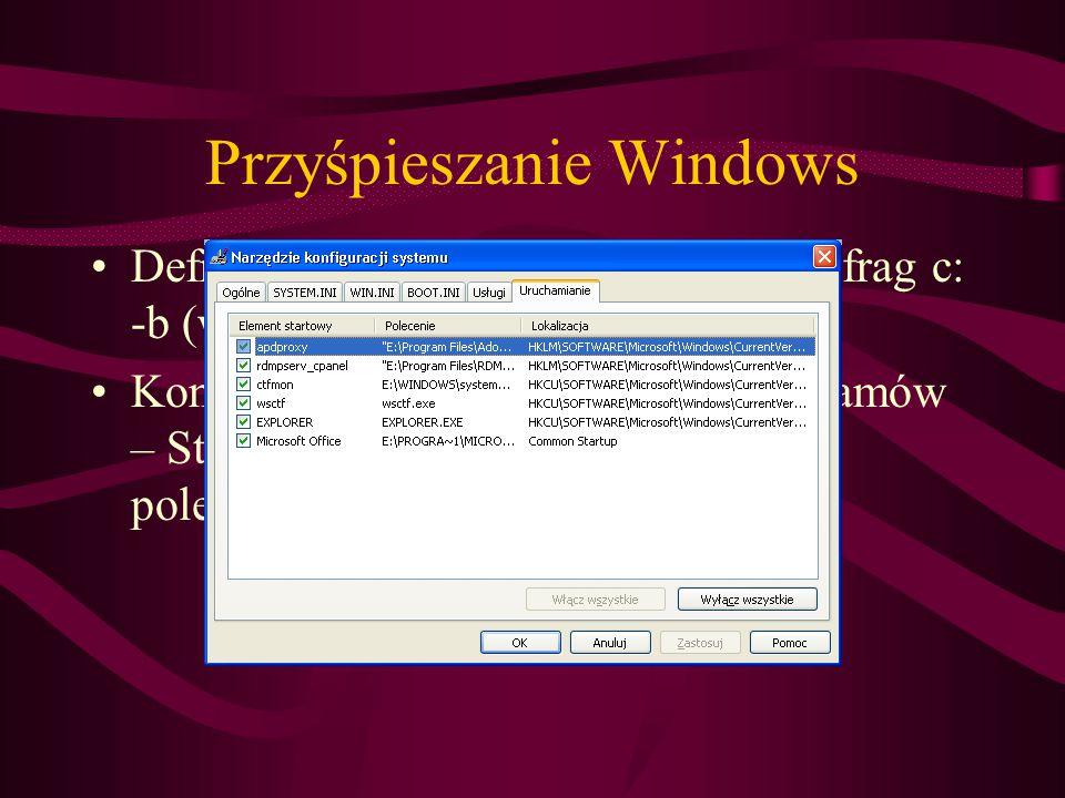 Przyśpieszanie Windows