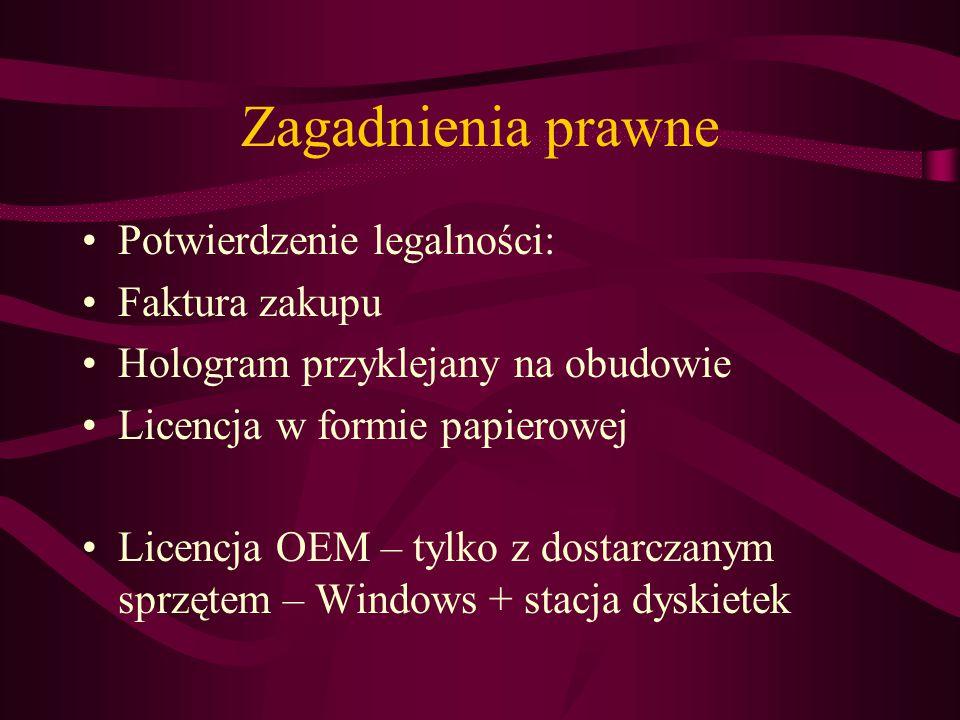 Zagadnienia prawne Potwierdzenie legalności: Faktura zakupu