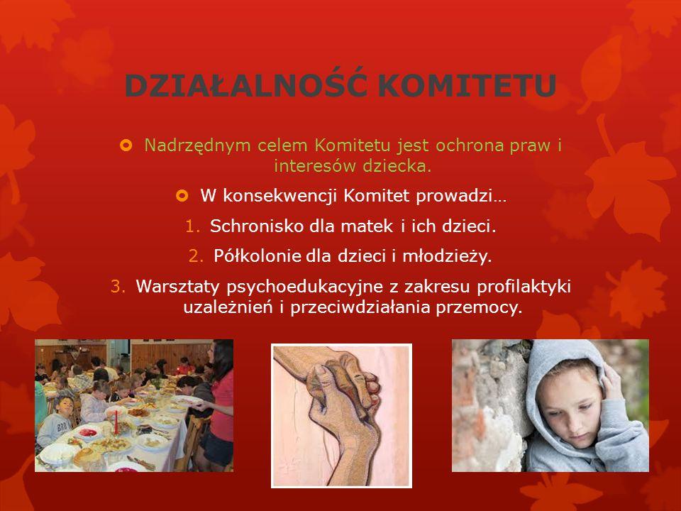 DZIAŁALNOŚĆ KOMITETU Nadrzędnym celem Komitetu jest ochrona praw i interesów dziecka. W konsekwencji Komitet prowadzi…