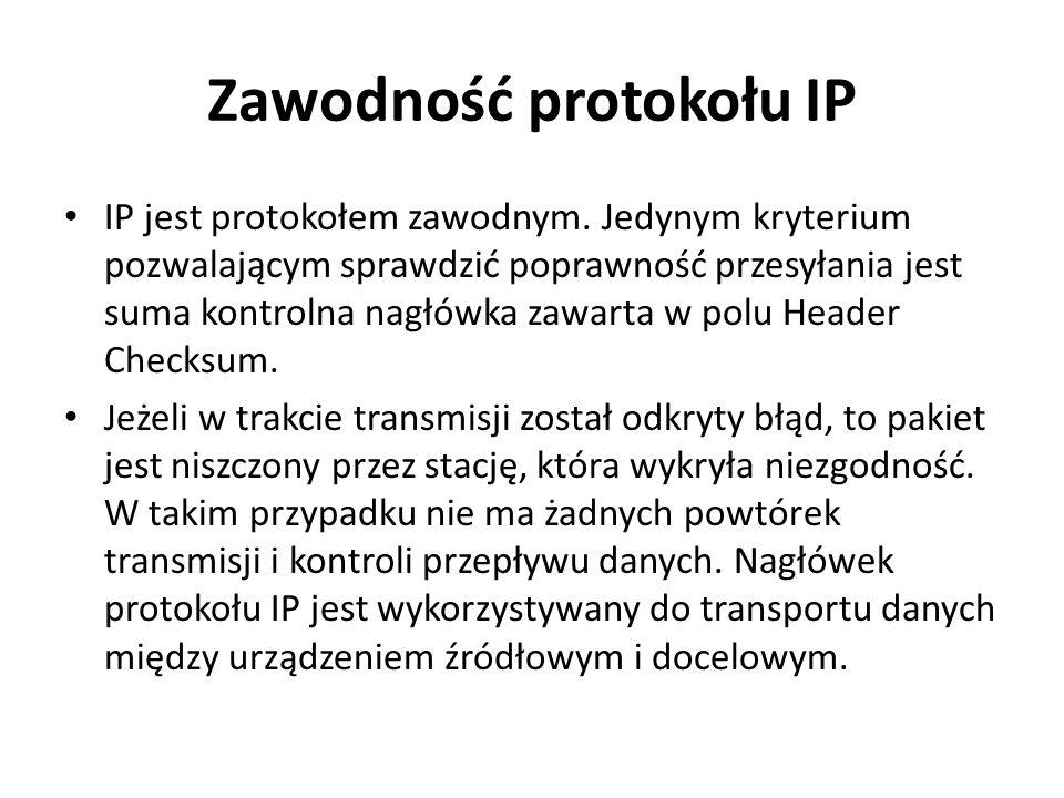 Zawodność protokołu IP